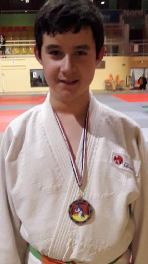 Mehdi Lévèque médaillé de bronze au championnat du Nord benjamin