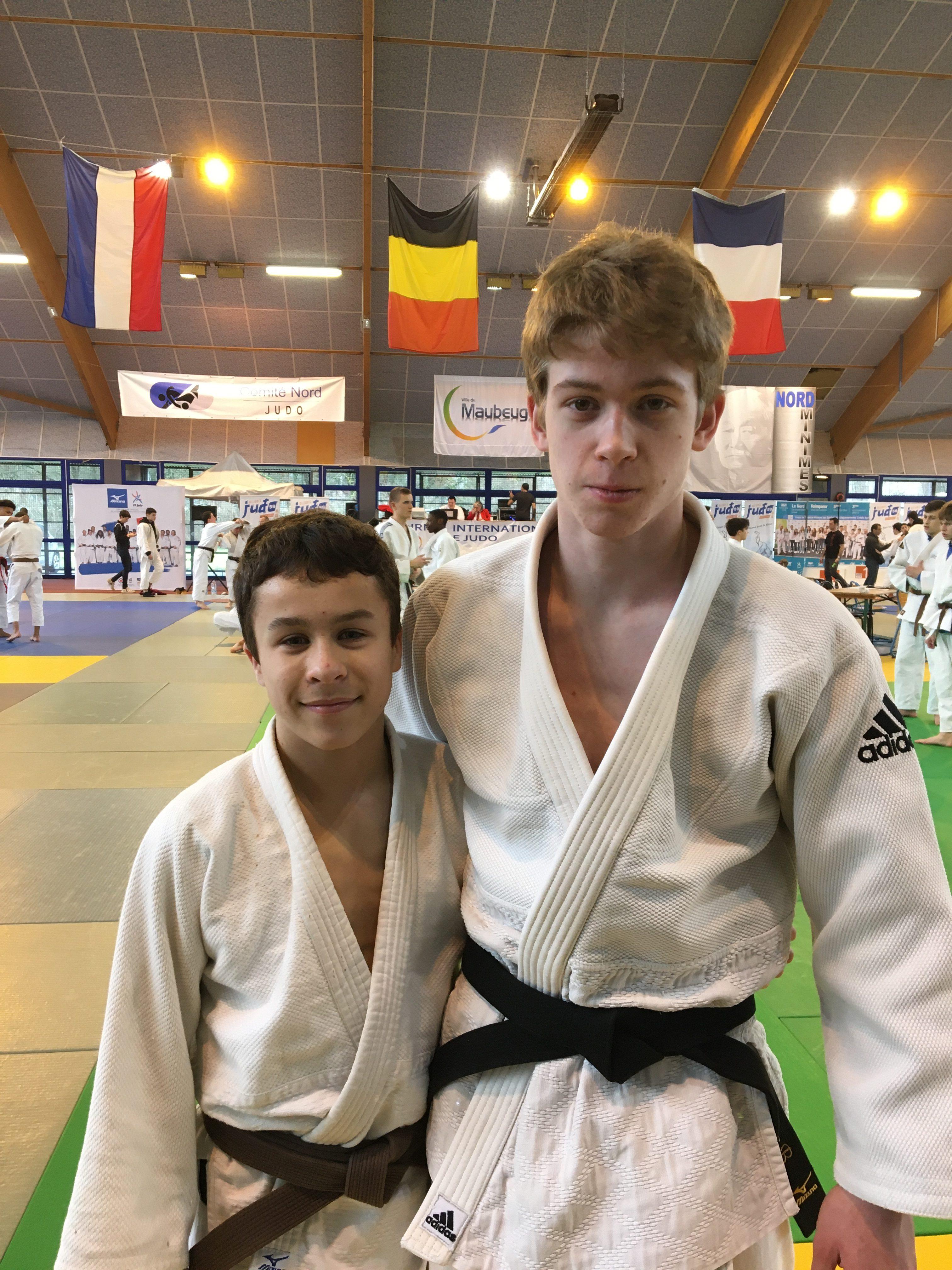 Tournoi cadet Label A de Maubeuge: Oscar et Mathis en piste